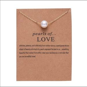 Jewelry - HP 🎉🎉 💎 Pearls of Love Necklace NEW